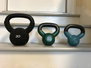 KETTLEBELL WEIGHTS for Sale in Virginia Beach, VA