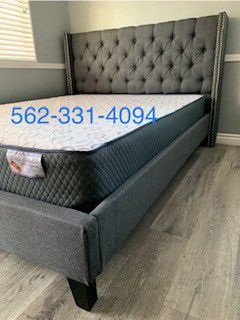💥New Blue/Gray Queen Bed w Mattress Included💥 for Sale in Fresno, CA