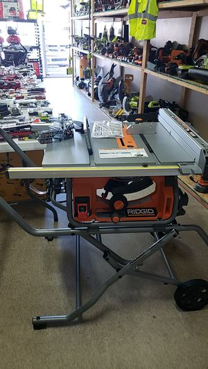 RIDGID 10 in. Pro Jobsite Table Saw with Stand for Sale in Phoenix, AZ