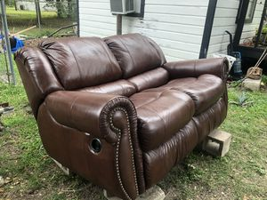 Real leather Couch for Sale in Houston, TX
