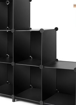 TomCare Cube Storage 6-Cube Closet Organizer Storage Shelves Cubes Organizer DIY Plastic Closet Cabinet Modular Book Shelf Organizing Storage Shelving for Sale in Las Vegas,  NV