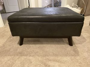 Dark brown ottoman with storage for Sale in Issaquah, WA