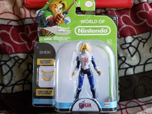 World of Nintendo, The Legend of Zelda: Ocarina of Time, Sheik Action Figure, 4 Inches for Sale in Garden Grove, CA