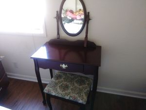 Antique Vanity Table and Stool for Sale in San Diego, CA
