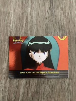 Topps Pokemon Card EP21 Abra And The Psychic Showdown Holo NM for Sale in Davenport, FL