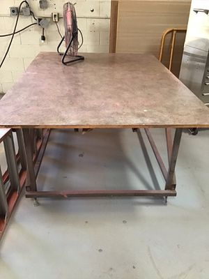 Steel working table with a laminate top for Sale in Escondido, CA