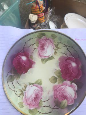 Antique Plate Dish Oscar & Edgar Gutherz O & EG Royal Austria Roses Vintage for Sale in Arlington, TX