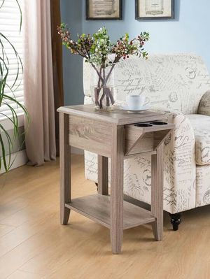 End Table with 2 Cup Holders, Dark Taupe Color, SKU 161582 for Sale in Santa Ana, CA