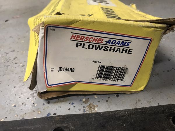 7 John Deere 144RS Plow Shares $25 for all seven You Must Pickup