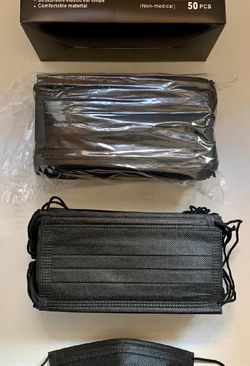 Disposable 3ply Black Face Masks for Sale in Anaheim,  CA