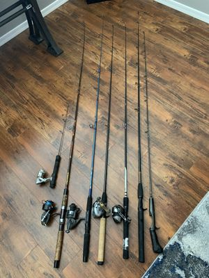 Miscellaneous fishing rods and reels for Sale in Gilbert, AZ