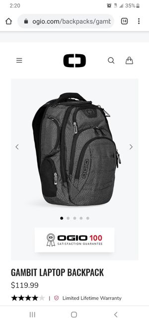 OGIO Gambit 17 Laptop Backpack for Sale in Riverdale, GA