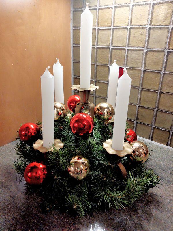 Handcrafted Holiday Decor Candelabra Centerpiece