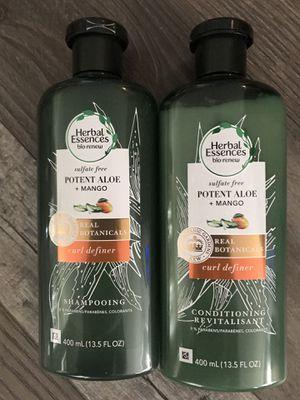 Herbal essences bio renew curl definer shampoo and conditioner set for Sale in San Bernardino, CA