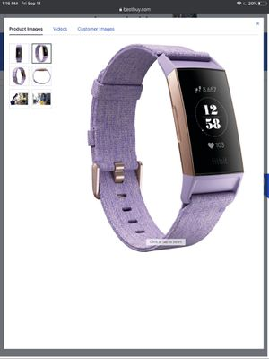 Fitbit charge 3 special edition for Sale in Centreville, VA