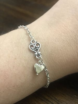Handcrafted Silver Bracelet ❤️ for Sale in San Antonio, TX