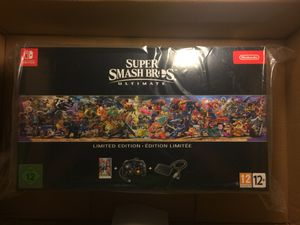 Super smash bros ultimate(game and controller) WITH Nintendo Switch console for Sale in Boston, MA