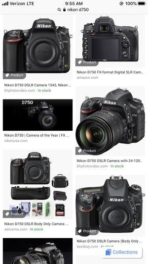 Nikon d750 for Sale in Irvine, CA