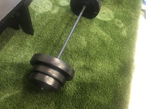 Barbell with 100 lb Weight Set brand new for Sale in Montebello, CA