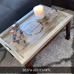 Beautiful Hand Made Coffee Table Tray Top Solid Wood for Sale in Naperville, IL