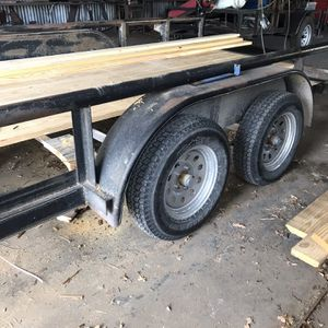 "Used. 80"" x 18' Pipe Top Utility Trailer With Pullout RAMPS . Title. 3500 LB Axles. Brakes. Good Condition . $1850 CASH Firm . Pickup Only for Sale in Fort Worth, TX"