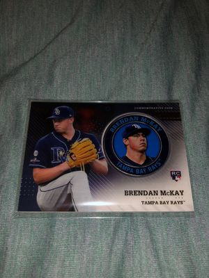 2020 Topps Baseball Series 2 Player Medallion- Brendan McKay Tampa Bays Rookie Card for Sale in Canoga Park, CA