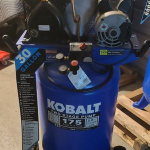 🛑 LIQUIDATION TODAY 🛑NEW $$$450$$$$ Kobalt30-Gallon Two Stage Portable Corded Electric Vertical Air Compressor$$$450$$$ for Sale in Los Angeles, CA