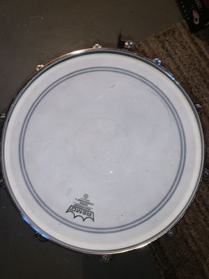 Snare drum with stand remo weather king snare drum head for Sale in Roseville, MI
