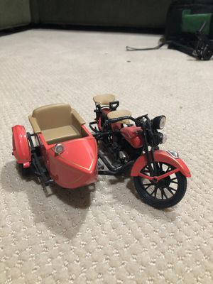 ARLEY DAVIDSON LIMITED EDITION 1933 Motorcycle SIDECAR Coin Bank Diecast 1:12 for Sale in Alta Loma, CA