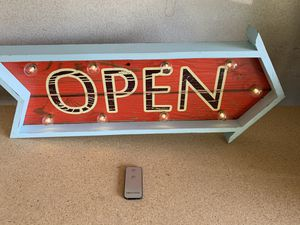 light up open sign for Sale in Rancho Cucamonga, CA