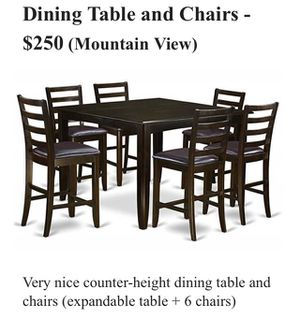 Counter Height Dining Table & Chairs for Sale in Mountain View, CA