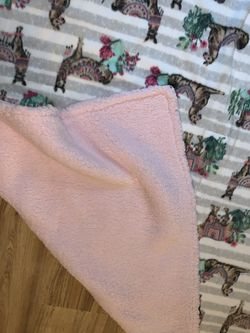 Brand New Homemade Sherpa Fleece Llama Adult Size Blanket! for Sale in Milwaukie,  OR