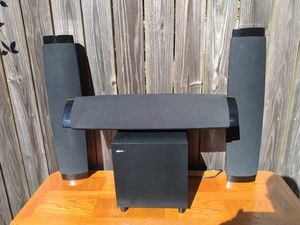 Jamo wall mounted speaker system with subwoofer for Sale in Newport News, VA