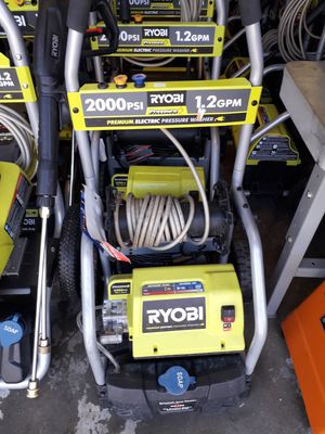 Ryobi electric 2000 psi pressure washer for Sale in Fresno, CA
