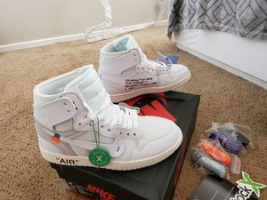 Nike air jordan 1 off white size 8.5 for Sale in Anaheim, CA
