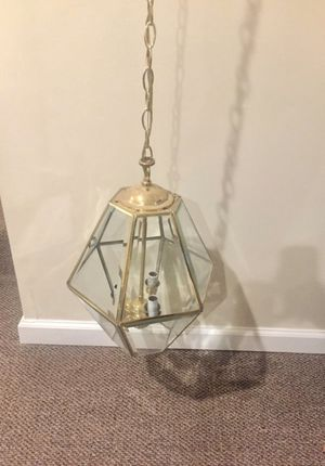 Classic Brass Foyer Chandelier (three bulb) for Sale in Woodbridge, VA