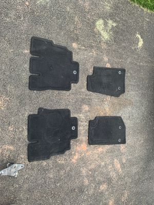 4 door Jeep Wrangler factory floor mats (lightly used) for Sale in Manassas, VA