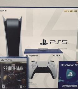 💎💎PS5 Bundle Spider-Man Extra controller Great PlayStation Now💎 for Sale in Portland,  OR