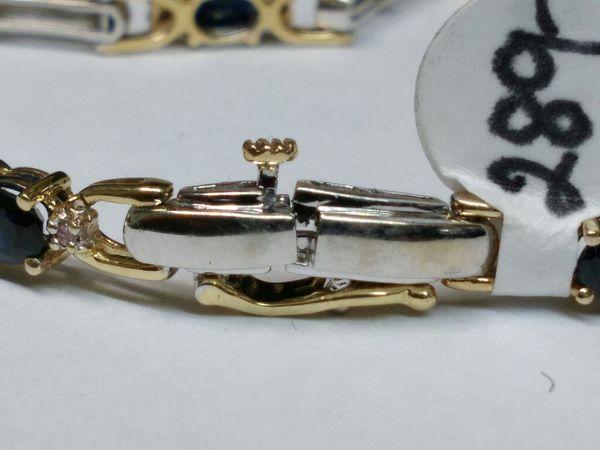 $289.99 - 9.5g, 14k Gold Bracelet w Diamond Chips, 7 inch