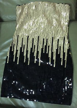 Bebe gold black sequin dress size xxs for Sale in Hyattsville, MD