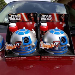 Star Wars. R2D2 bubble machines brand new in the original box with Star Wars bubbles and a stormtrooper action figure. The third is original and works for Sale in Wauchula, FL