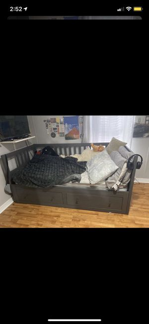 Dark Grey Daybed bed frame with Twin Mattress for Sale in Jacksonville, FL