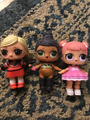 LOL surprise dolls as if baby, center stage and bling series for Sale in Los Angeles, CA