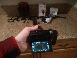 Sony A6000 Digital Camera Mirrorless w/ Interchangeable Lens & Flash, 64gig card for Sale in Reno, NV