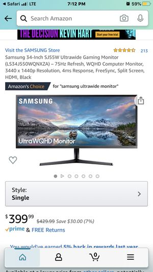 "Samsung 34"" UltraWide QHD 4k Monitor!!! for Sale in Minneapolis, MN"