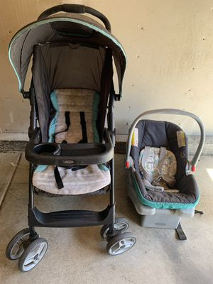 Graco Car Seat and stroller- good condition for Sale in Fremont, CA
