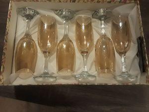 Six piece wine glass set for Sale in Virginia Beach, VA