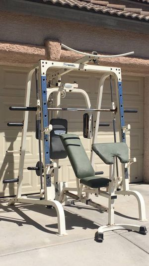 Linear Bearing Smith Machine with High Low Pulley Peck Deck and Dumbbell Bench for Sale in Las Vegas, NV