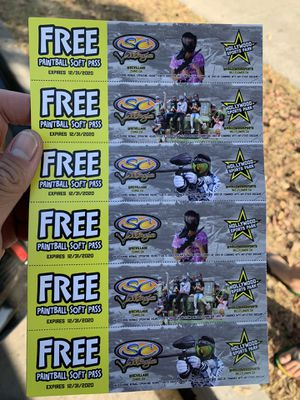 SC Village PaintBall Soft pass with messages me fast for now only $40 for 6 tickets for Sale in Cerritos, CA