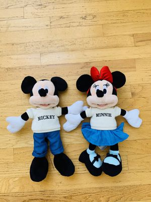 Disney's Mickey & minney plushies Lot for Sale in Santa Barbara, CA